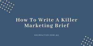 how to write marketing brief