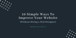 how to improve website without hiring a web designer